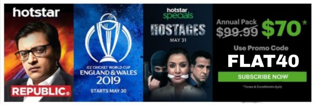 Biggest 30% OFF with Promo: FLAT40 for US Hotstar - crickviral