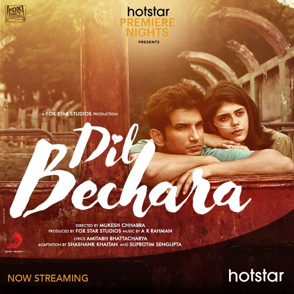 Hotstar Streaming- Dil Bechara