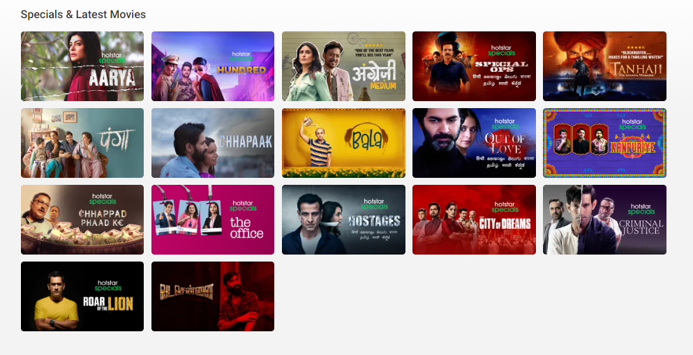 Hotstar Specials & Latest Movies