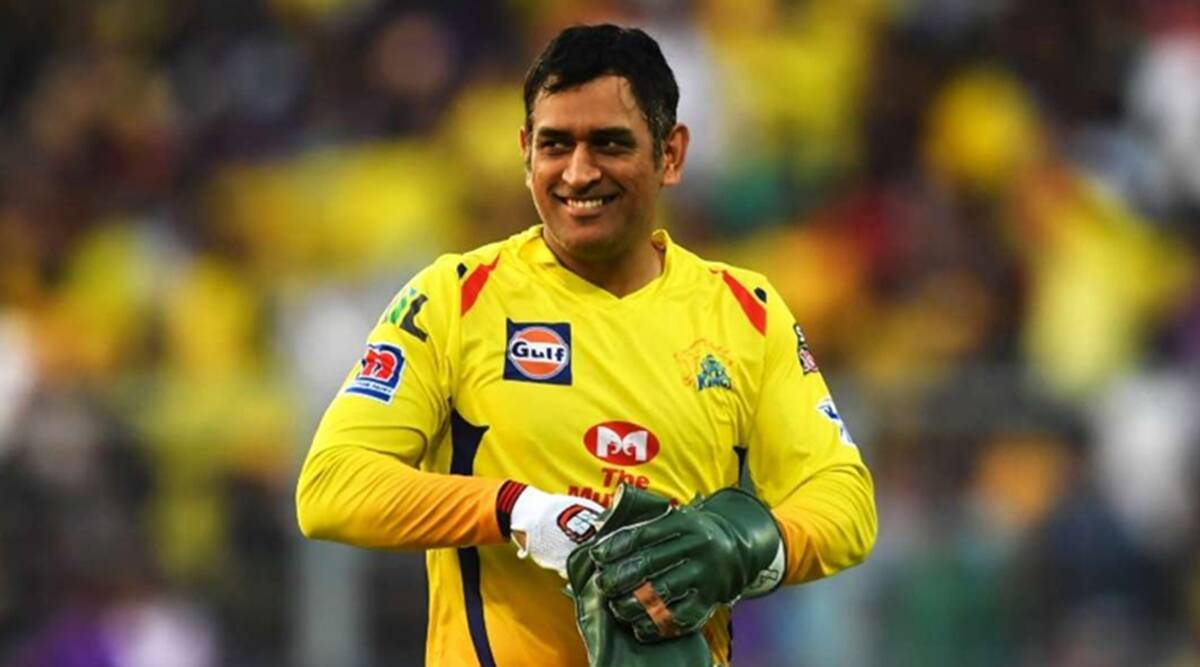 Dhoni from team CSK IPL-2021